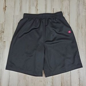Champion Boys Athletic Shorts Black Gear Lined